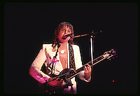 Greg Lake, bassist and vocalist for the rock group Emerson, Lake and Palmer.