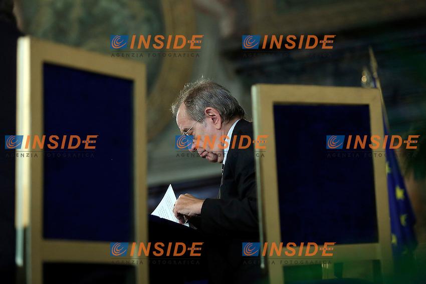 Pier Carlo Padoan<br /> Roma 27-10-2016. ACRI. Giornata del risparmio<br /> Foto Samantha Zucchi Insidefoto