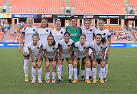 Houston, TX - Saturday July 16, 2016: Portland Thorns FC Starting XI prior to a regular season National Women's Soccer League (NWSL) match between the Houston Dash and the Portland Thorns FC at BBVA Compass Stadium.