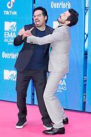 BILBAO, SPAIN-November 04: Diego Luna, Michael Pena attend the EMA 2018 at BEC (Bilbao Exhibition Center) in Bilbao, Spain on the 4 of November of 2018. November04, 2018.  ***NO SPAIN*** <br /> CAP/MPI/RJO<br /> &copy;RJO/MPI/Capital Pictures