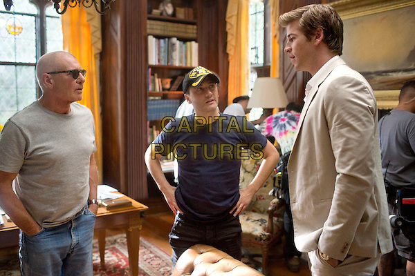 Harrison Ford, director Robert Luketic &amp; Liam Hemsworth<br /> on the set of Paranoia (2013) <br /> *Filmstill - Editorial Use Only*<br /> CAP/FB<br /> Image supplied by Capital Pictures