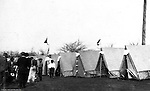Gettysburg PA: View of the McKeesport Boy's Brigade tents and camp at Gettysburg. Brady Stewart was in Gettysburg with the Pittsburgh-area Boy's Brigade. They were in Gettysburg for 40th anniversary of the battle of Gettysburg.  The Boy's Brigade was a church-based youth organization started in the late 1800s in Scotland - 1903