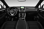Stock photo of straight dashboard view of 2017 Lexus NX 200t-F-Sport 5 Door SUV Dashboard