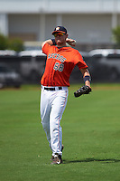 GCL Astros first baseman Connor MacDonald (68) warms up before a game against the GCL Braves on July 23, 2015 at the Osceola County Stadium Complex in Kissimmee, Florida.  GCL Braves defeated GCL Astros 4-2.  (Mike Janes/Four Seam Images)
