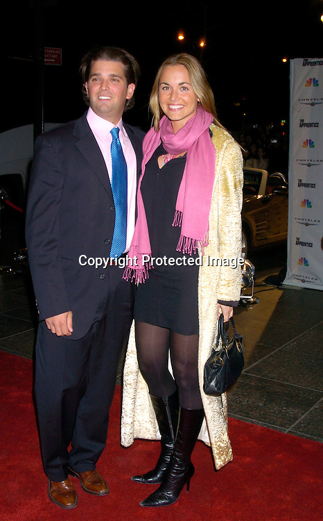 """Donald Trump, Jr and Vanessa Hayden ..at """"The Apprentice"""" finale Party on April 15, 2004 at Trump Tower. Photo by Robin Platzer, Twin Images"""