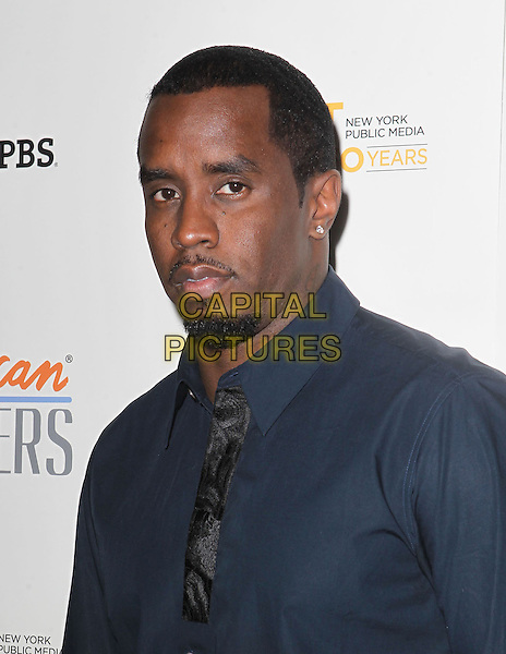 """Sean John Combs AKA Puff Daddy.""""Inventing David Geffen"""" - Los Angeles Premiere Held At The Writer's Guild Theater, Beverly Hills, California, USA..November 13th, 2012.headshot portrait black tie goatee facial hair p diddy blue shirt  facial hair.CAP/ADM/KB.©Kevan Brooks/AdMedia/Capital Pictures."""