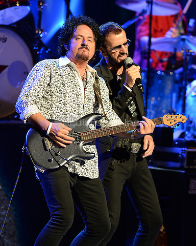 FORT LAUDERDALE FL - OCTOBER 21 : Steve Lukather and Ringo Starr perform at The Broward Center For The Performing Arts on October 21, 2014 in Fort Lauderdale, Florida. Credit: mpi04/MediaPunch