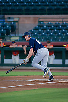 AZL Brewers designated hitter Pat McInerney (62) follows through on his swing against the AZL Giants on August 15, 2017 at Scottsdale Stadium in Scottsdale, Arizona. AZL Giants defeated the AZL Brewers 4-3. (Zachary Lucy/Four Seam Images)