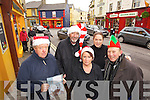 Listowel Traders pictured in William Street soaking up the Christmas atmosphere are from Left: Jim Halpin, Damien Stack, Mags O'Connor, Eileen Carey and Jackie McGillycuddy.