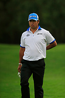 Hideki Matsuyama (JPN) on the 18th during the 2nd round of the WGC HSBC Champions, Sheshan Golf Club, Shanghai, China. 01/11/2019.<br /> Picture Fran Caffrey / Golffile.ie<br /> <br /> All photo usage must carry mandatory copyright credit (© Golffile   Fran Caffrey)