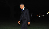 United States President Barack Obama returns to the White House in Washington, D.C. following his trip to New York to visit  Pathways in Technology Early College High School (P-TECH) in Brooklyn, New York on Friday, November 25, 2013.  The President is also delivered remarks at a DCCC event and attended a DNC event.<br /> Credit: Olivier Douliery / Pool via CNP