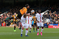 Jamie Collins of Sutton tangles with Leon Legge of Cambridge during Cambridge United vs Sutton United , Emirates FA Cup Football at the Cambs Glass Stadium on 5th November 2017