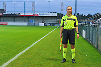 assistant referee Shauni Depruyst pictured during a female soccer game between  AA Gent Ladies and Eendracht Aalst on the second matchday of the 2020 - 2021 season of Belgian Scooore Womens SuperLeague , friday 4 th of september 2020  in Oostakker , Belgium . PHOTO SPORTPIX.BE | SPP | STIJN AUDOOREN