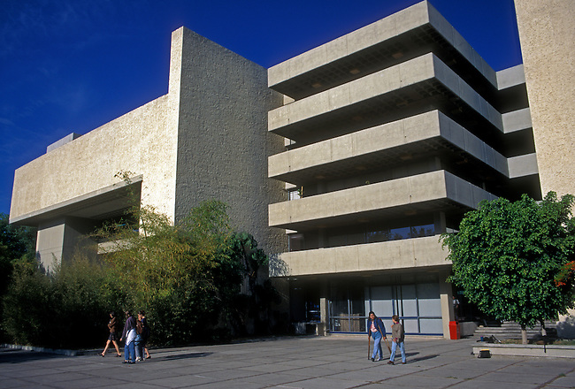 Students on campus of University of Guadalajara, Guadalajara, Jalisco State, Mexico, North America