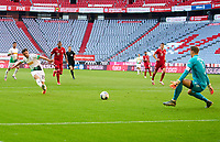 13th June 2020, Allianz Erena, Munich, Germany; Bundesliga football, Bayern Munich versus Borussia Moenchengladbach; Jonas HOFMANN, MG 23 shoots and scores past Bayern keeper Neuer for 0-1 but ruled offside