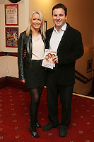 26/8/2010. NO REPRO FEE. Little Gem Opening night. Deirdre Horan and Rory Ardagh are pictured at the Olympia Theatre Dublin for the opening night of Little Gem. Hilda Fay makes her return as Lorraine, Anita Reeves continues in the role of Kay, and Genevieve Hulme-Beaman takes on the role of Amber. After sell-out seasons in New York, London and Paris and a sold-out 7-week run at Ireland's National Theatre, Gúna Nua is bringing its bittersweet comedy Little Gem back to Dublin for 10 shows only at The Olympia Theatre from August 26 to September 4, 2010. Love, sex, birth, death, dildos and salsa classes: Elaine Murphy's award winning Little Gem sees three generations of Dublin women on a wild and constantly surprising journey. Picture James Horan/Collins Photos