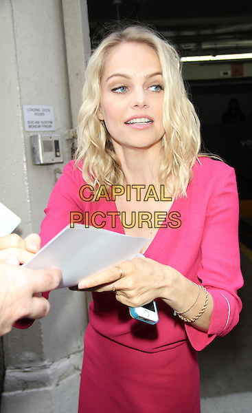 July 13, 2015: Mircea Monroe at AOL Build Show to talk the current season of Impastor in New York.<br /> <br /> CAP/MPI/RW<br /> &copy;RW/MPI/Capital Pictures