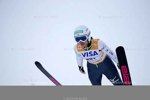 Sara Takanashi (JPN), JANUARY 11, 2014 - Ski Jumping : Sara Takanashi of Japan competes during the FIS Ski Jumping World Cup Women's HS100 at Miyanomori, Sapporo, Japan. (Photo by AFLO SPORT)