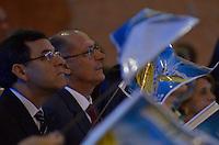 APARECIDA, SP, 12.10.2013 - DIA DE NOSSA SENHORA APARECIDA - Governador de São Paulo Geraldo Alckmin durante missa no Santuário de Nossa Senhora Aparecida na manhã deste sabado (12), para acompanhar as celebrações do Dia da Padroeira do Brasil. Foto: Levi Bianco - Brazil Photo Press.