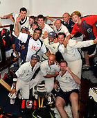 Cricket Scotland Scottish Cup - Uddingston CC V Dunfermline CC at Arbroath CC - Uddingston celebrate their victory - Picture by Donald MacLeod - 20.08.11 - 07702 319 738 - www.donald-macleod.com