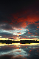 Balgray Reservoir at sunset, Dams to Darnley Country Park, Barrhead, East Renfrewshire