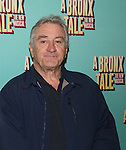 """Robert De Niro during the photocell for """"A Bronx Tale - The New Musical""""  at the New 42nd Street Studios on October 21, 2016 in New York City."""