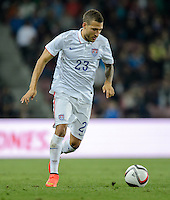 PRAGUE, Czech Republic - September 3, 2014: USA's Fabian Johnson during the international friendly match between the Czech Republic and the USA at Generali Arena.