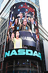 The cast of 'A Christmas Story, The Musical'  ringing  the NASDAQ Stock Market Opening Bell at NASDAQ, Times Square in New York City on December 20, 2012