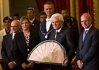 20150730 ROMA-POLITICA: CERIMONIA DEL VENTAGLIO AL QUIRINALE