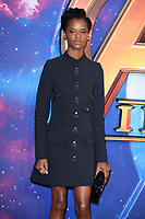 "Letitia Wright<br /> arriving for the ""Avengers: Infinity War"" fan event at the London Television Studios, London<br /> <br /> ©Ash Knotek  D3393  08/04/2018"