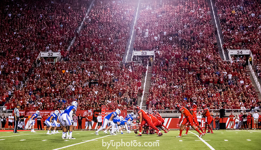 16FTB at Utah 4000<br /> <br /> 16FTB at Utah<br /> <br /> BYU Football at Utah - Deseret First Duel<br /> <br /> BYU-19<br /> Utah-20<br /> <br /> September 10, 2016<br /> <br /> Photo by Jaren Wilkey/BYU<br /> <br /> © BYU PHOTO 2016<br /> All Rights Reserved<br /> photo@byu.edu  (801)422-7322