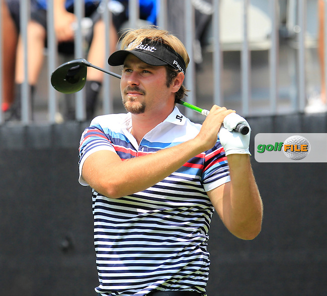 Victor DUBUISSON (FRA) tees off the 10th tee during Sunday's Final Round to win the WGC Bridgestone Invitational, held at the Firestone Country Club, Akron, Ohio.: Picture Eoin Clarke, www.golffile.ie: 3rd August 2014