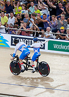 Scotland's Neil Fachie and pilot Matt Rotherham win gold. Track Cycling, Anna Meares Arena, Commonwealth Games, Gold Coast, Australia. Thursday 5 April, 2018. Copyright photo: John Cowpland / www.photosport.nz /SWPix.com