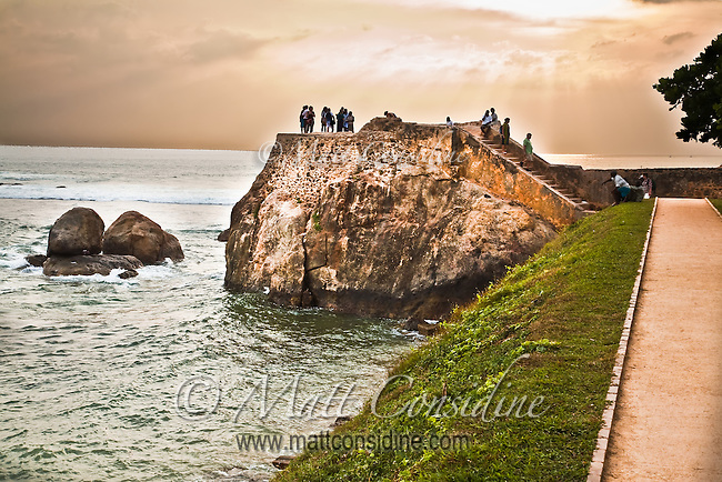 People gather and walk along these ramparts every afternoon.<br /> (Photo by Matt Considine - Images of Asia Collection)
