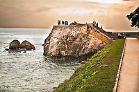 People gather and walk along these ramparts every afternoon. (Photo by Matt Considine - Images of Asia Collection)