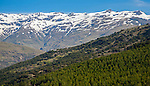 Landscape of Sierra Nevada Mountains in the High Alpujarras, near Capileira, Granada Province, Spain.