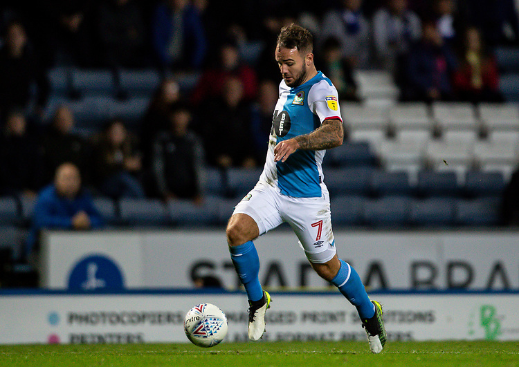 Blackburn Rovers' Adam Armstrong breaks <br /> <br /> Photographer Andrew Kearns/CameraSport<br /> <br /> The EFL Sky Bet Championship - Blackburn Rovers v Nottingham Forest - Tuesday 1st October 2019  - Ewood Park - Blackburn<br /> <br /> World Copyright © 2019 CameraSport. All rights reserved. 43 Linden Ave. Countesthorpe. Leicester. England. LE8 5PG - Tel: +44 (0) 116 277 4147 - admin@camerasport.com - www.camerasport.com