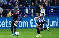Leeds United's Edward Nketiah challenges Sheffield Wednesday's Joey Pelupessy (right) <br /> <br /> Photographer Andrew Kearns/CameraSport<br /> <br /> The EFL Sky Bet Championship - Sheffield Wednesday v Leeds United - Saturday 26th October 2019 - Hillsborough - Sheffield<br /> <br /> World Copyright © 2019 CameraSport. All rights reserved. 43 Linden Ave. Countesthorpe. Leicester. England. LE8 5PG - Tel: +44 (0) 116 277 4147 - admin@camerasport.com - www.camerasport.com