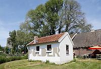 Nederland Amsterdam 2016. Oud huisje op het Science Park. Onderdeel van Cafe-Restaurant Polder. Foto Berlinda van Dam / Hollandse Hoogte