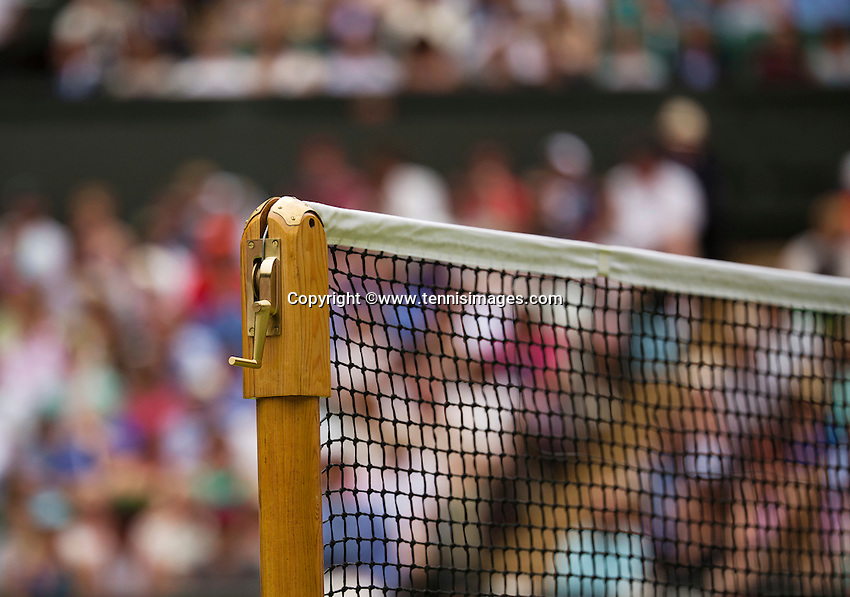 England, London, Juli 06, 2015, Tennis, Wimbledon, The net at Centrecourt<br /> Photo: Tennisimages/Henk Koster