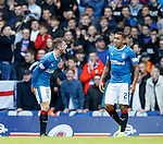 Andy Halliday rearing at James Tavernier