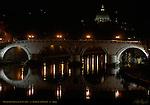 Ponte Sisto foot bridge 1479 Dome of St Peter's Basilica Rome