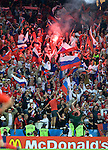 Russian fans celebrate after the win against Greece at Euro 2008, RUS-GRE, 06142008, Salzburg, Austria