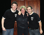 Daniel Clarkson & Jefferson Turner with stage manager Gilda Frost on Opening Night for 'Potted Potter' at the Little Shubert Theatrenin New York City, NY on June 3, 2012. ***Exclusive Coverage***