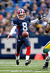 5 November 2006: Buffalo Bills punter Brian Moorman (8) make a precision punt to the one yard line against the Green Bay Packers at Ralph Wilson Stadium in Orchard Park, NY. The Bills defeated the Packers 24-10. Mandatory Photo Credit: Ed Wolfstein Photo.<br />