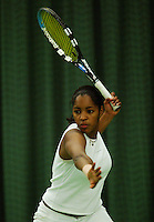 10-3-06, Netherlands, tennis, Rotterdam, National indoor junior tennis championchips, Zina Monteiro
