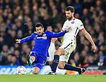 Chelsea's Pedro tussles with PSG's Thiago Motta<br /> <br /> - UEFA Champions League - Chelsea vs Paris Saint Germain - Stamford Bridge - London - England - 9th March 2016 - Pic David Klein/Sportimage