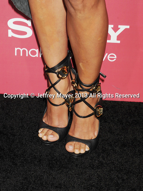 HOLLYWOOD, CA - MARCH 05: Halle Berry (shoe detail) at the 'The Call' - Los Angeles Premiere at ArcLight Hollywood on March 5, 2013 in Hollywood, California.
