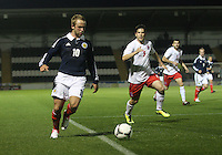 Johnny Russell in the Scotland v Luxembourg UEFA Under 21 international qualifying match at St Mirren Park, Paisley on 6.9.12.