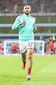 12th September 2017, Villa Park, Birmingham, England; EFL Championship football, Aston Villa versus Middlesbrough; Ahmed Elmohamady of Aston Villa warming  up before the game